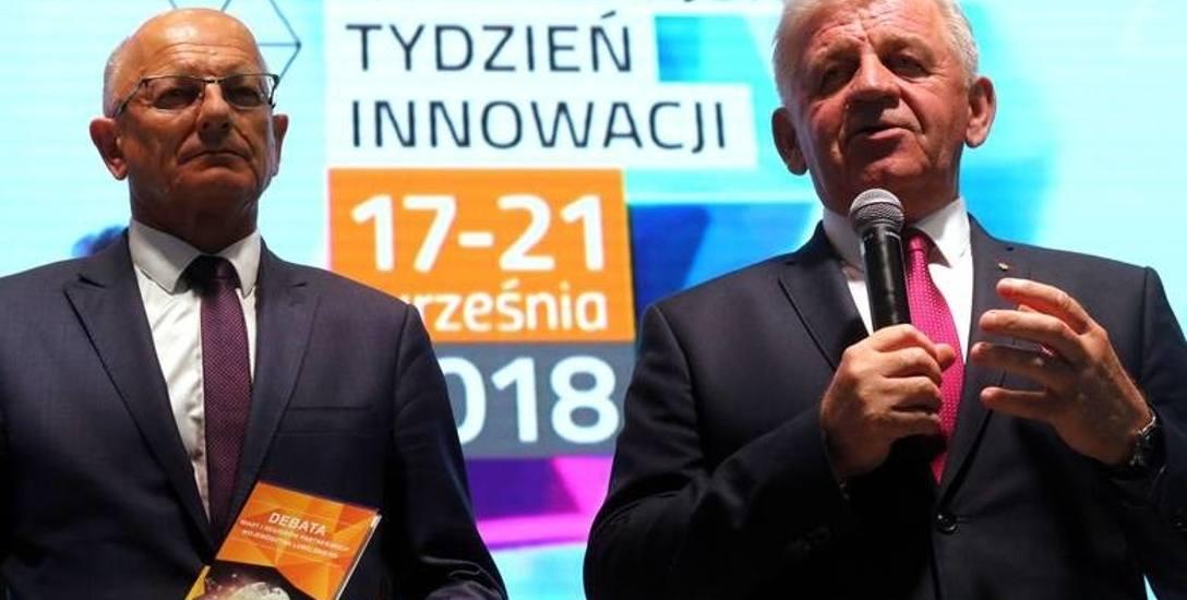 Prezydent Lublina Krzysztof Żuk i marszałek województwa Sławomir Sosnowski