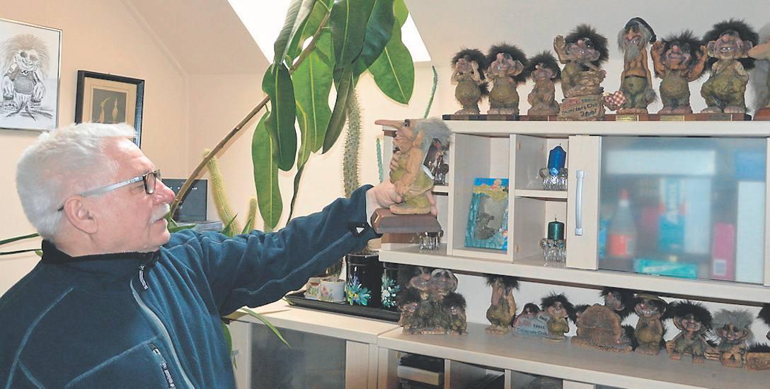 Tadeusz Leszczyński figurki trolli zbiera od 21 lat. Ostatnio przestał już powiększać swoją kolekcję, ponieważ w domu zaczyna brakować miejsca na nowe