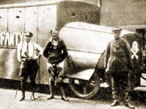 """Opancerzony wóz """"Korfanty"""" - dzieło porucznika Roberta Oszeka"""