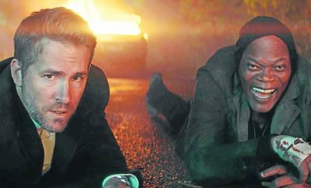 Z pary Ryan Reynolds (z lewej) - Samuel L. Jackson nieco lepiej wypada ten drugi: wnosi więcej żywiołowości, drobiazgów, tworzy bogatszą postać i popisuje