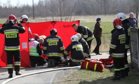 Mężczyzna ciężko ranny wskutek wybuchu gazu w Chmielowie zmarł w szpitalu