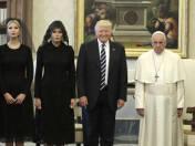 Papież Franciszek przyjął na audiencji Donalda Trumpa wraz z żoną i córką