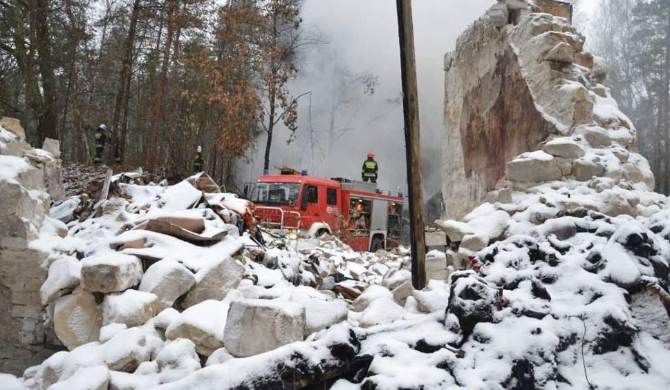 Film do artykułu: Wąchock, Starachowice. Kolejny pożar w firmie utylizującej odpady. Już trzeci