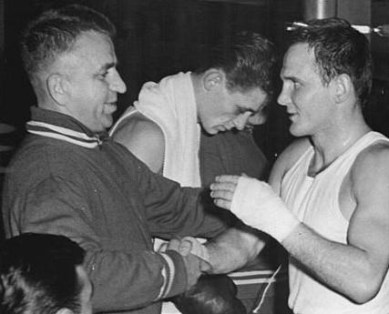 Jerzy Kulej, z prawej, w 1963 roku.