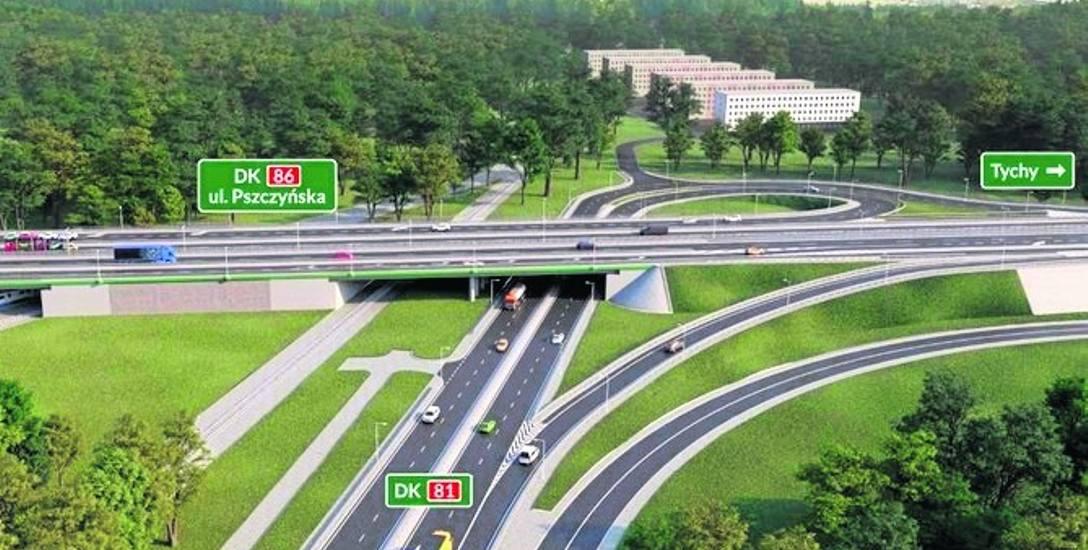 Przebudowa węzła Giszowiec może spowodować drogowy paraliż Katowic w godzinach szczytu