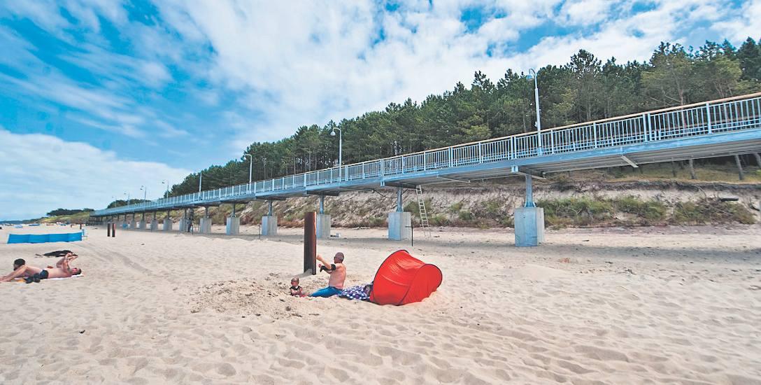 Nowa część promenady to około 400 metrów swoistego molo, prowadzącego wzdłuż plaży. Cała promenada ma 2 km, a prowadzi z centrum Mielna do zejścia na