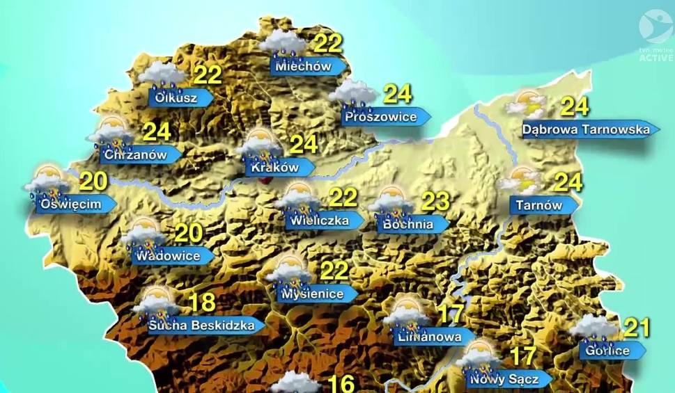 Film do artykułu: Pogoda na wtorek, 24 maja. Będzie gorąco, ale parasol warto mieć pod ręką