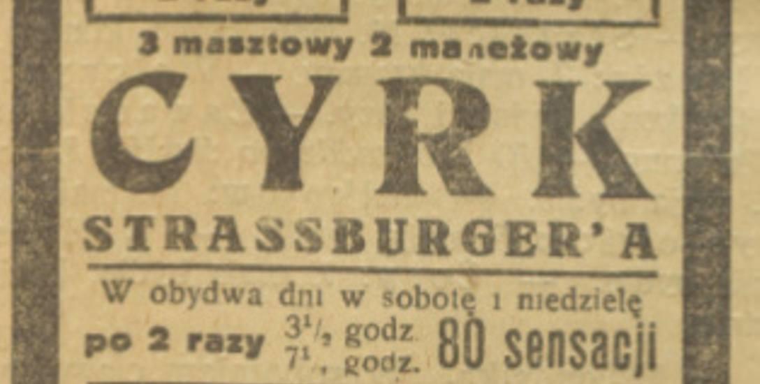 Plakat jednego z cyrków występujących na Górnym Śląsku