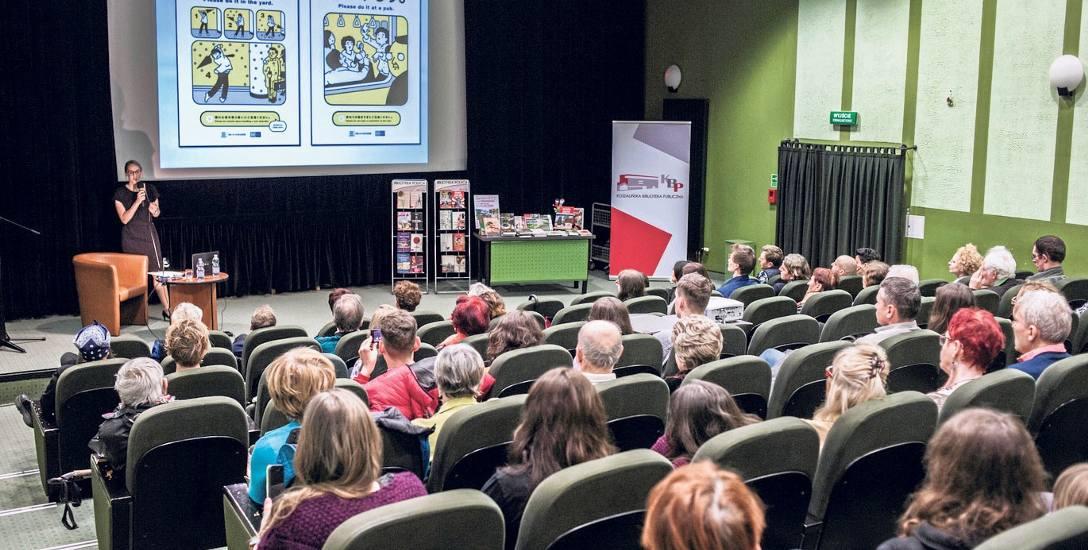Anna Tomaszewska spotkała się z czytelnikami Koszalińskiej Biblioteki Publicznej dokładnie tydzień temu - 15 marca.