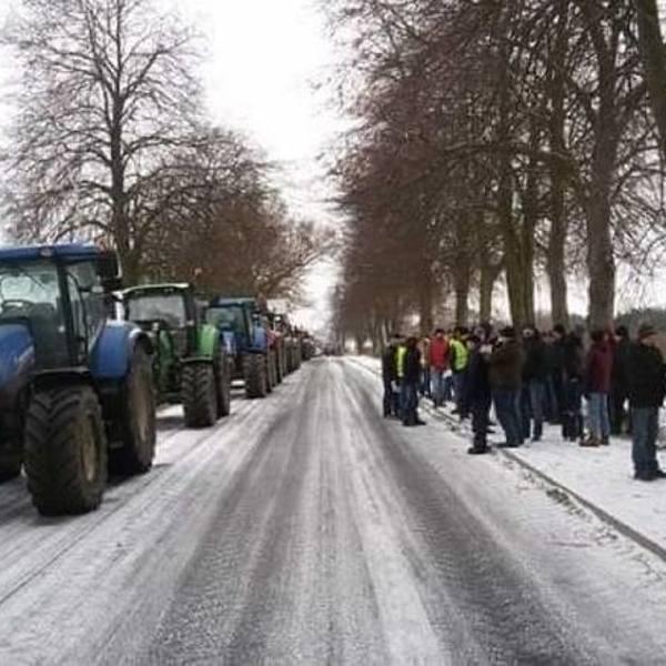 Na początku stycznia rolnicy z Wielkopolski zablokowali drogę między Piłą a Ujściem.