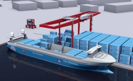 Yara Birkeland ma być pierwszym komercyjnym w pełni autonomicznym i elektrycznym statkim kontenerowym