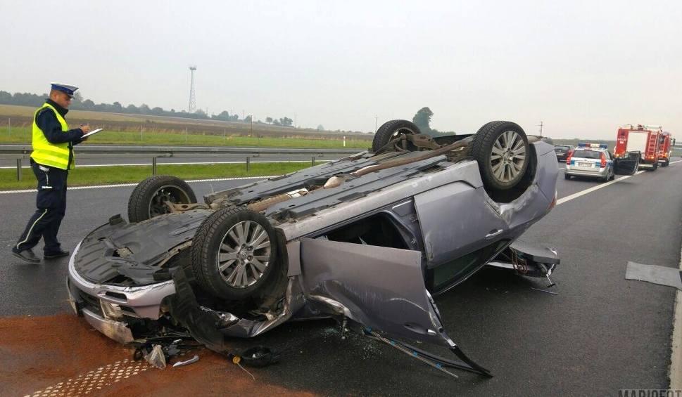 Film do artykułu: Mazda dachowała na autostradzie A4