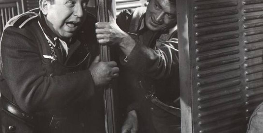 """Edward Wichura z Marianem Kociniakiem w """"Jak rozpętałem II wojnę światową"""""""