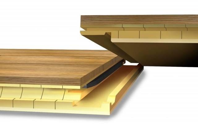 Deski łączą się za pomocą elastycznego pióra, które jest częścią zamka Boen-X-Press.