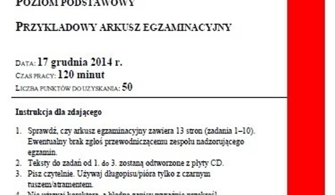 4f05fe68912a15 Próbna MATURA 2015 z języka angielskiego [ARKUSZE CKE, ODPOWIEDZI] -  Gloswielkopolski.pl