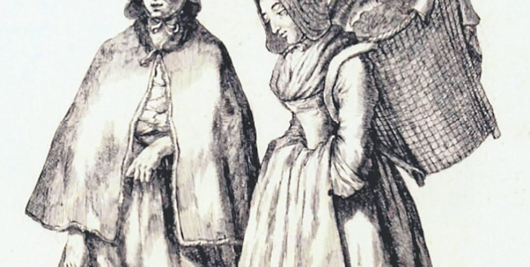 Gdańska handlarka - XVIII-wieczny sztych