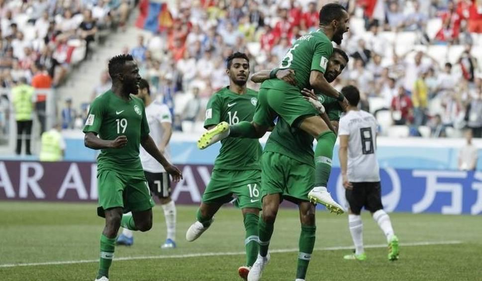 Film do artykułu: Arabia Saudyjska - Egipt, MŚ 2018, grupa A. Emocje w dole tabeli. Honorowe zwycięstwo Arabii Saudyjskiej [wynik meczu, relacja]