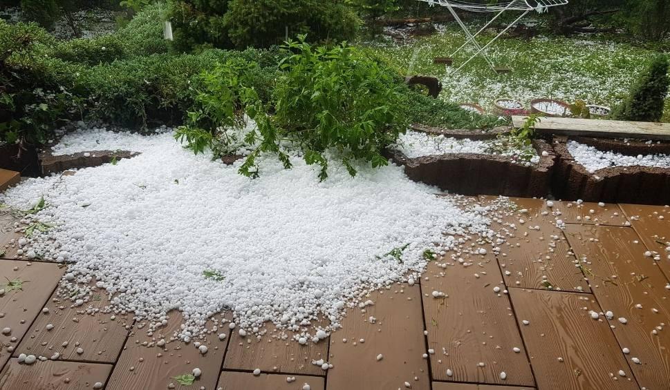 Film do artykułu: Burze i deszcz nad Lubelszczyzną. W Świdniku spadł grad wielkości orzechów. Zobacz wideo