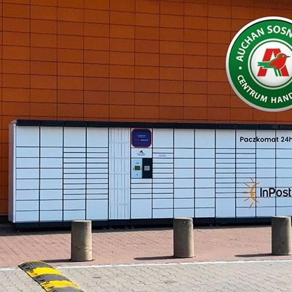 Od 20 marca przesyłki można odbierać w nowym paczkomacie przy Centrum Handlowym Auchan w Sosnowcu