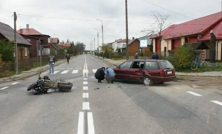 Zabłudów> Motocyklista zderzył się z Volkswagenem (foto)