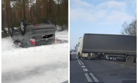 Na drogach województwa podlaskiego doszło do kilku kolizji. Warunki nie są sprzyjające, miejscami jezdnie mogą być oblodzone.Zdjęcia pochodzą z grupy