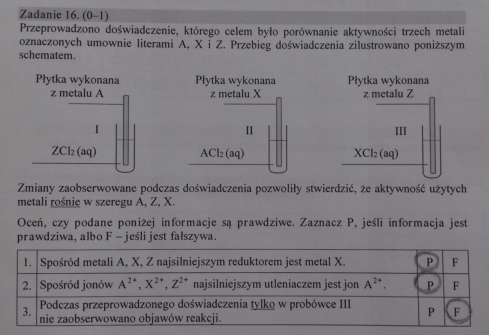 matura chemia 2021 odpowiedzi