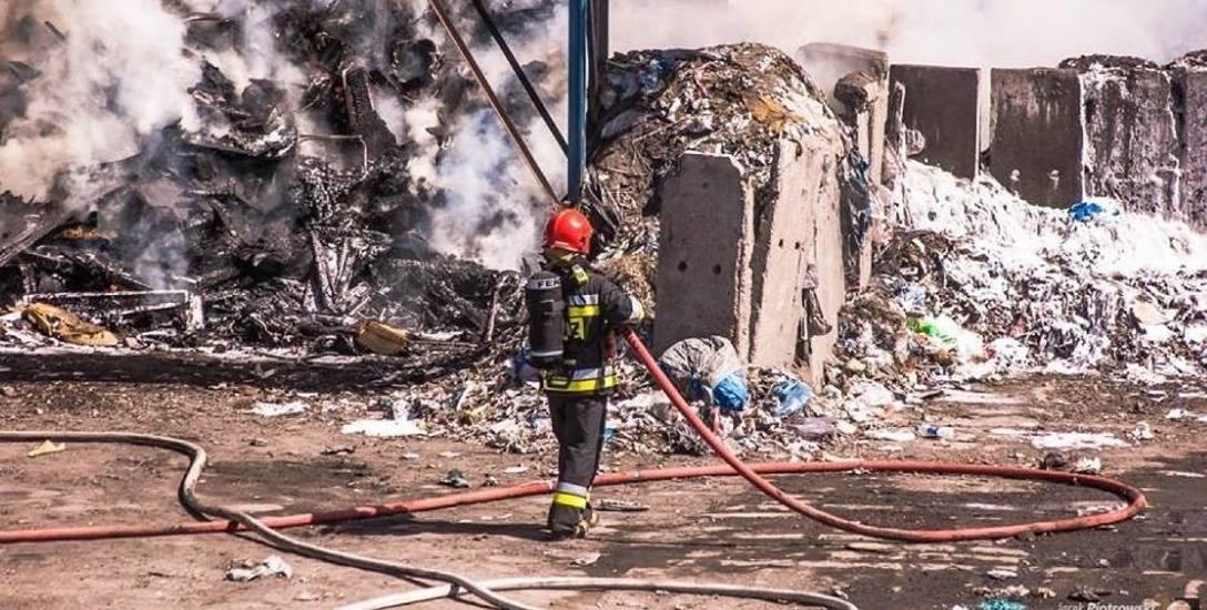 Pożar w Łaszewie koło Pleszewa było widać z odległości kilku kilometrów