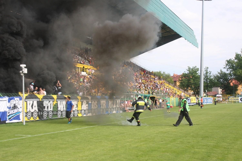 Piłkarze GKS Katowice przywitali się z kibicami
