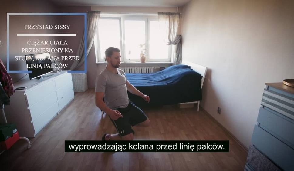 """Film do artykułu: """"Ćwicz w domu"""" - zestaw prostych ćwiczeń do domu od trenera Adama Bartkowskiego odcinek 13"""