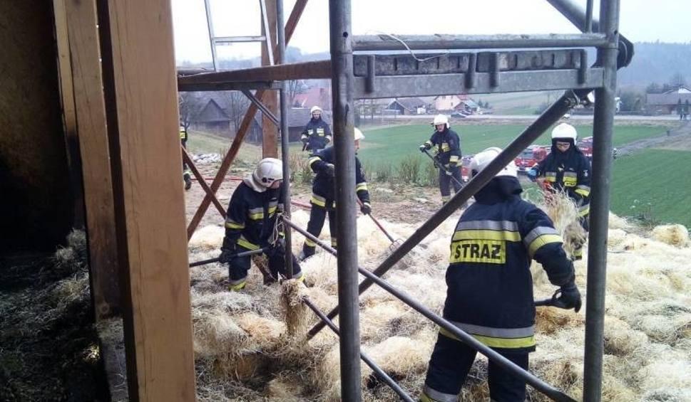 Film do artykułu: Wojnarowa. Pożar w budynku w trakcie budowy. W środku przebywały osoby