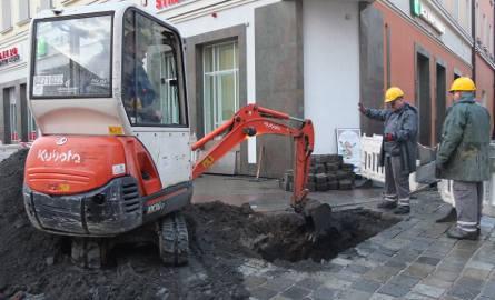 Rozszczelnienie instalacji gazowej na Rynku.