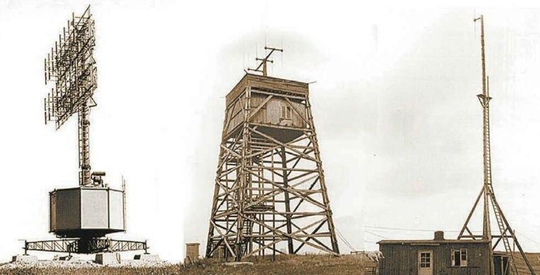 Tak wyglądały maszty stacji radarowych. Były one zamontowane na polach pod Górą św. Anny, które dziś przecina autostrada A4.