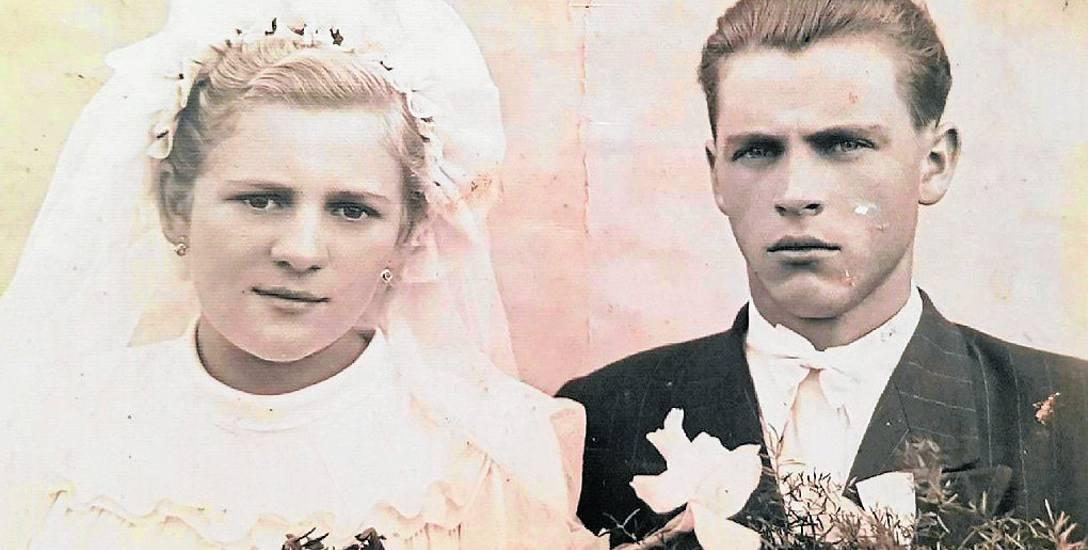 Ślubna fotografia Heleny i Mieczysława Jamniuków