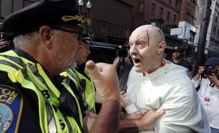Zamieszki USA. Protest przeciwko rasizmowi i nacjonalizmowi w Bostonie, starcia z policją [ZDJĘCIA]