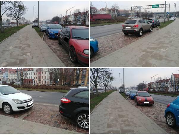 """Mistrzowie parkowania """"na zapas"""" na bulwarach i Trasie Zamkowej [ZDJĘCIA]"""