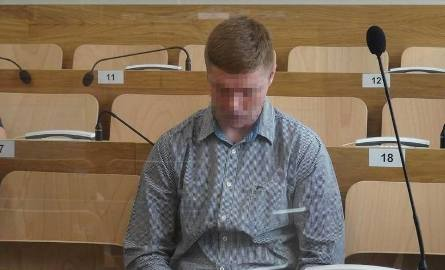 Oskarżony Michał K. z wyrokiem 3,5 roku więzienia