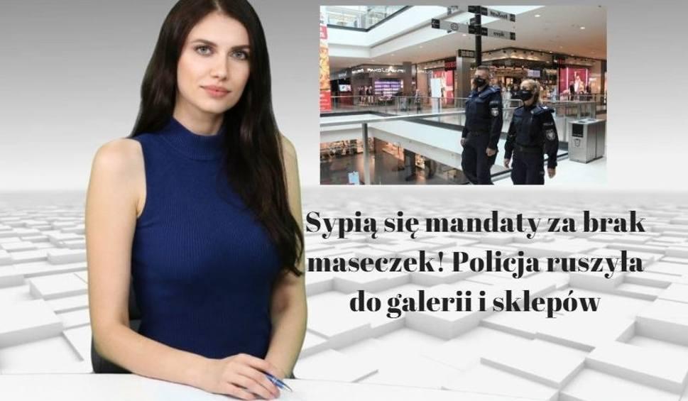 Film do artykułu: Sypią się mandaty za brak maseczek! Policja ruszyła do galerii i sklepów. Wiadomości