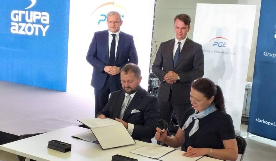 Film do artykułu: Wielka farma fotowoltaiczna powstanie w Osieku! PGE Energia Odnawialna nawiązało współpracę z Grupą Azoty Siarkopol [ZDJĘCIA]