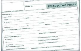 świadectwo Pracy Wzór Druk Pdf Umowa Zlecenie A świadectwo Pracy
