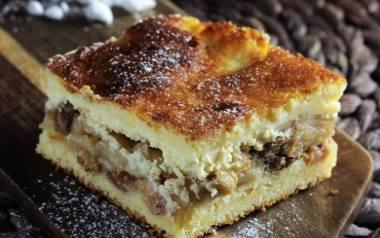 Szarlotka cytrynowa z serem.
