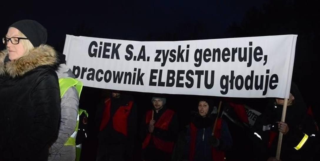 Związkowcy i pracownicy Elbestu dostali podwyżki. Blokada dróg prowadzących do bełchatowskich gigantów dała efekt