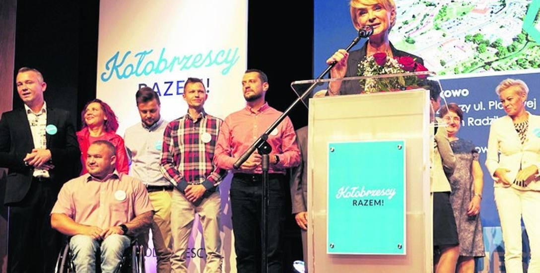 Anna Mieczkowska (PO), kandydatka KWW Kołobrzescy Razem przedstawiła swoich kandydatów na radnych
