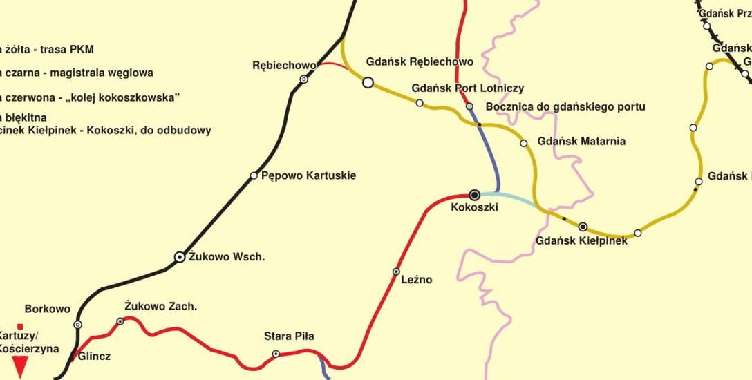 """Nowe życie """"kolei kokoszkowskiej"""". Czy odbudują trasę będącą pierwszym historycznym połączeniem kolejowym Gdańska z Kartuzami?"""