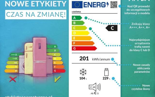 W nowej etykiecie powrócono do 7 klas efektywności energetycznej. Z tym że najbardziej energooszczędne obecnie sprzęty to klasa C lub D. Wyższe pozostawiono