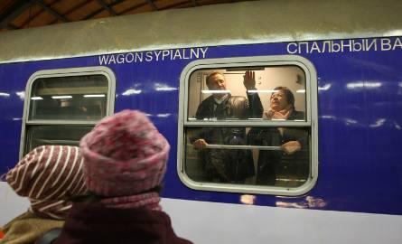 Oleksandr Skrypnyk z żoną Kateryną i synkiem żegnał rodziców powracających do domu pociągiem z Wrocławia do Lwowa