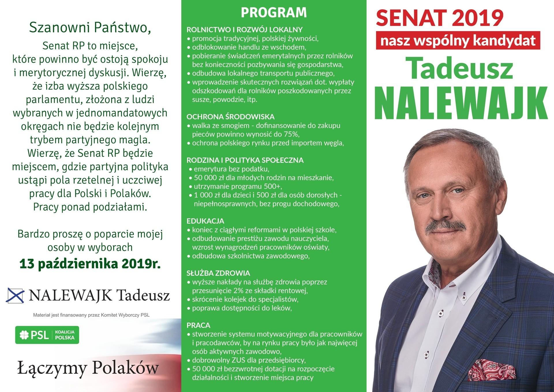 Tadeusz Nalewajk ulotka