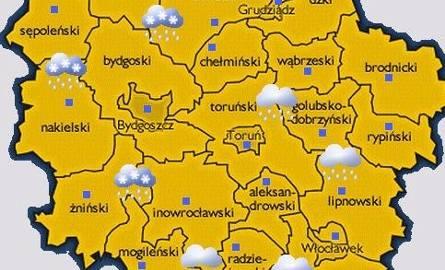 Pogoda: przelotne opady śniegu z deszczem i niskie ciśnienie [wideo, mapa pogody]