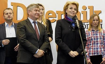 Prezydent Łodzi Hanna Zdanowska, marszałek województwa łódzkiego Witold Stępień