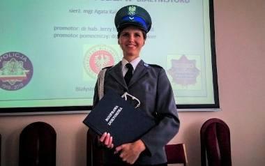 Sierż. Agata Kalinowska, dzielnicowa III Komisariatu Policji w Białymstoku została doktorem z dziedziny pedagogiki