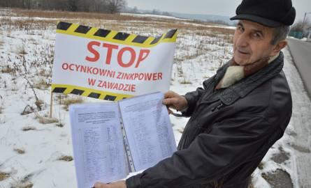 Ocynkownia w Zawadzie ma być czwartym zakładem ZinkPower w Polsce. Ludzie są przeciw. - Mamy ponad 900 podpisów - mówi Zb. Matłok